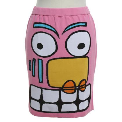 Jeremy Scott skirt with motif print
