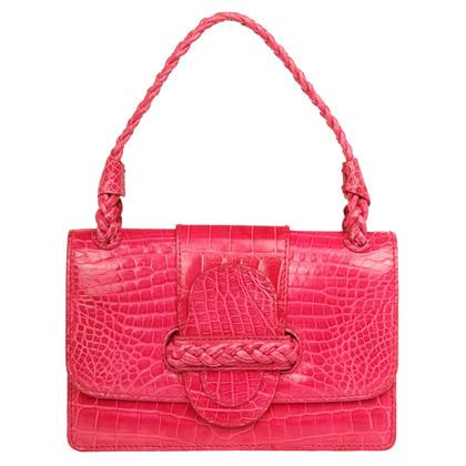 Valentino Handle bag made of crocodile leather