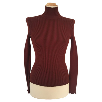 Rena Lange Rib top with stand-up collar