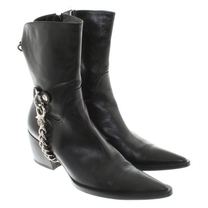 Cesare Paciotti Leather ankle boots