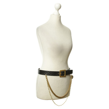Chanel Leather belt with application