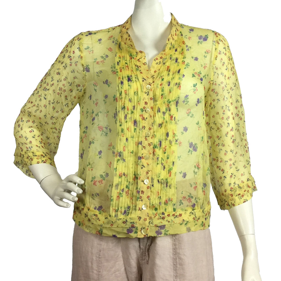 Max & Co Blouse en soie avec un motif floral
