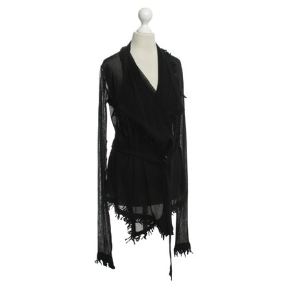 Jean Paul Gaultier Wrap blouse in black