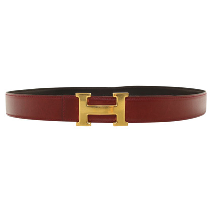 Hermès cintura di pelle color bordeaux