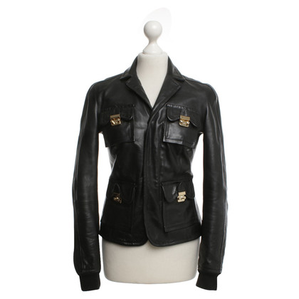 Dsquared2 Leather jacket in black