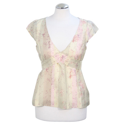 French Connection Silk Top met patroon