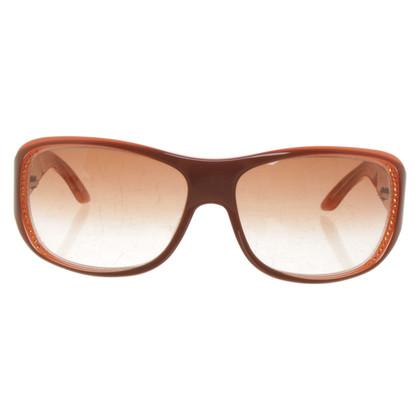 Christian Dior Zonnebril in bruin / oranje