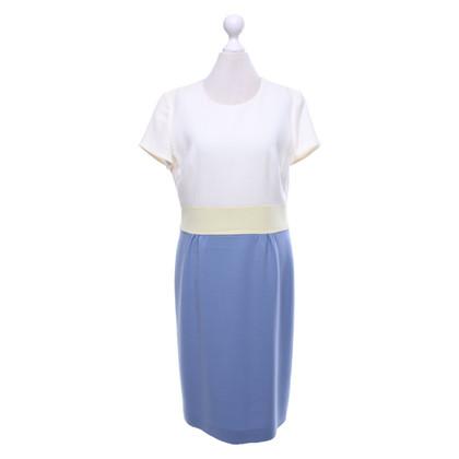 Escada Dress in white and blue