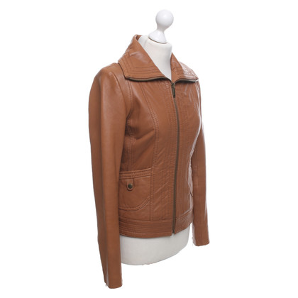 Michael Kors Leather jacket in brown