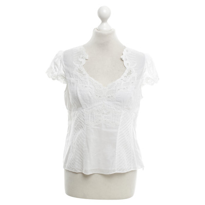 Karen Millen Bluse mit Spitzendetails in Weiß