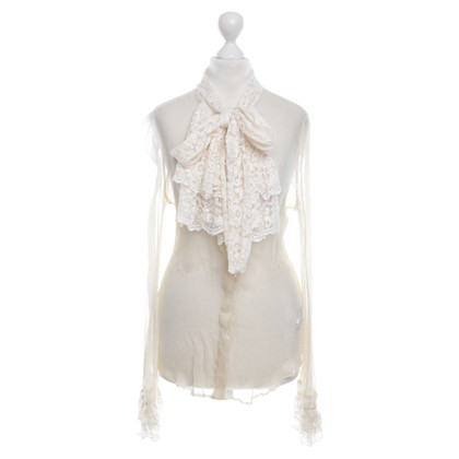 D&G Pleated blouse with lace
