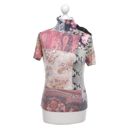 Roberto Cavalli top with motif print