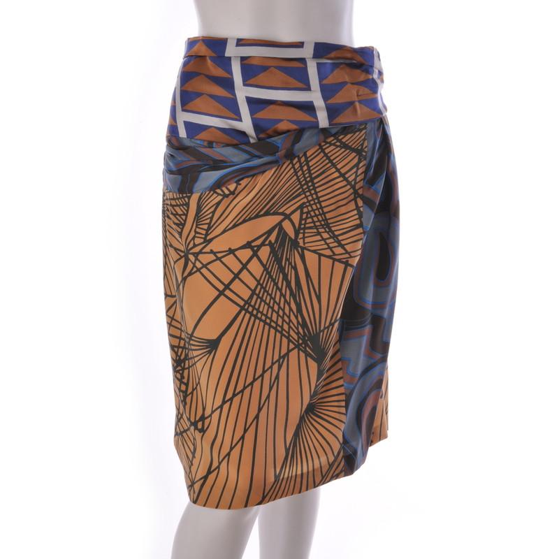 Dries van Noten Silk skirt with a pattern mix