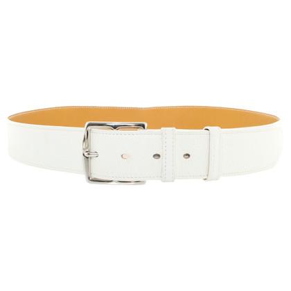 Hermès Belt in White