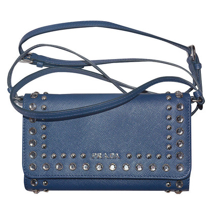 Prada clutch in blauw