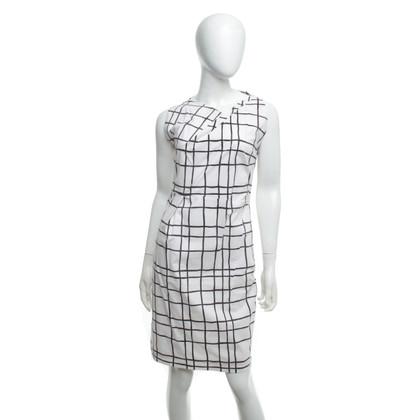 René Lezard Kleid mit Karo-Muster