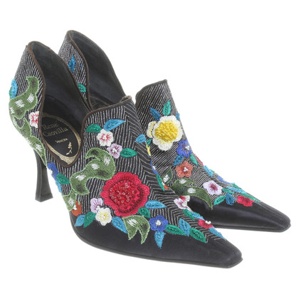 René Caovilla Pumps with embroidery