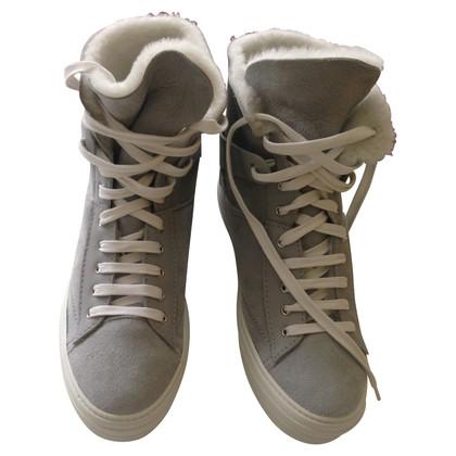 Salvatore Ferragamo schapenvacht Sneakers