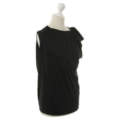 Jil Sander Jersey-Top in Schwarz