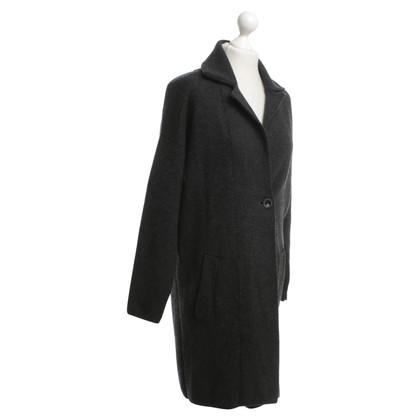 FFC Manteau de laine en gris foncé