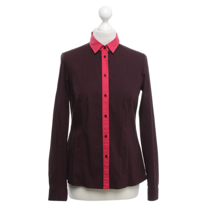 Hugo Boss Blouse in eggplant / red