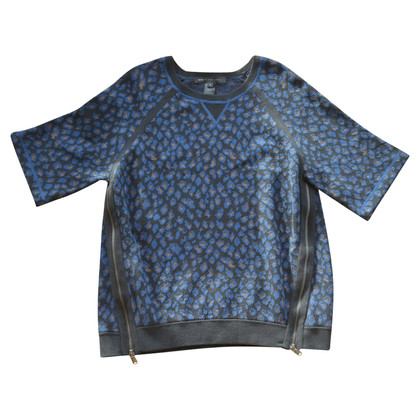 Marc by Marc Jacobs Sparkly Leopard Print Jersey Sweatshirt
