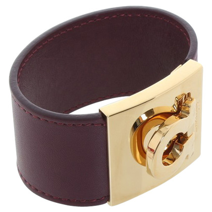Salvatore Ferragamo Lederen armband in paars