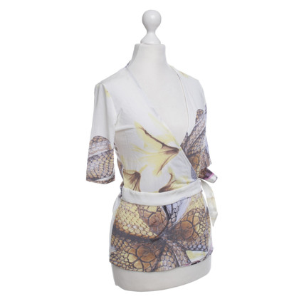 Just Cavalli Wrap-Top con stampa animalier