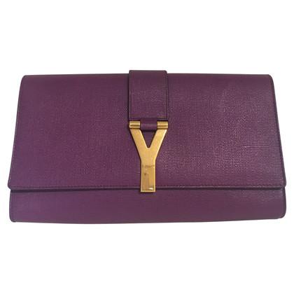 Yves Saint Laurent clutch in purple