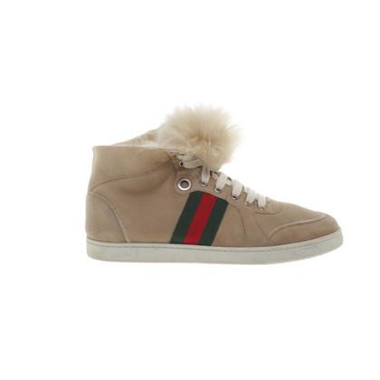 Gucci Sneaker with fur trim