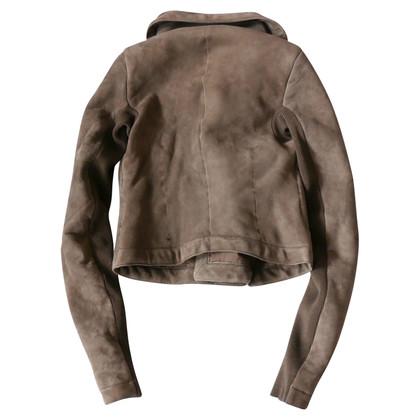 Rick Owens Lambskin biker jacket