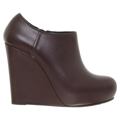 Marni Ankle Boots in Bordeaux