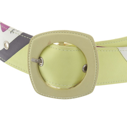 Emilio Pucci Waist belt with pattern