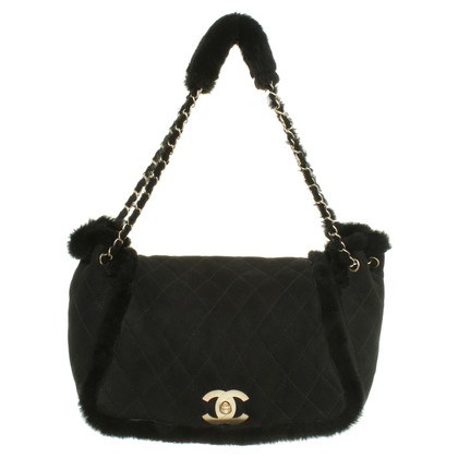 Chanel Suede bag with fur details
