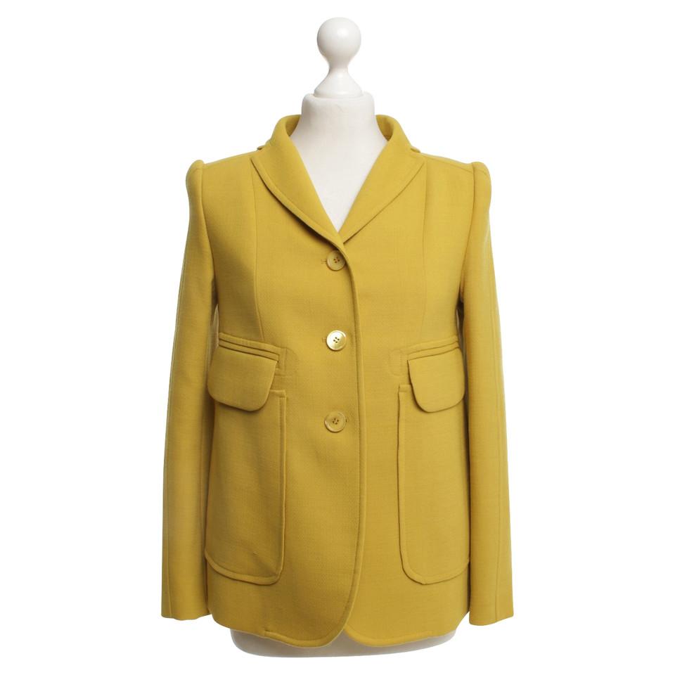 Carven blazer en jaune moutarde acheter carven blazer en jaune moutarde second hand d 39 occasion - Blazer jaune moutarde ...