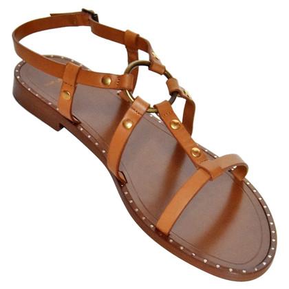Saint Laurent Platte sandalen
