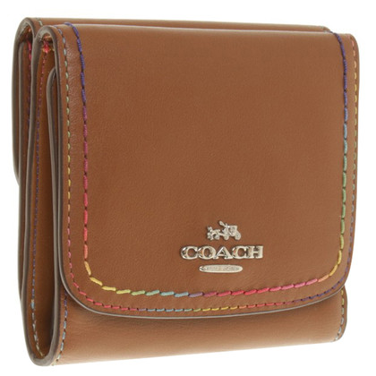 Coach Brown money bag