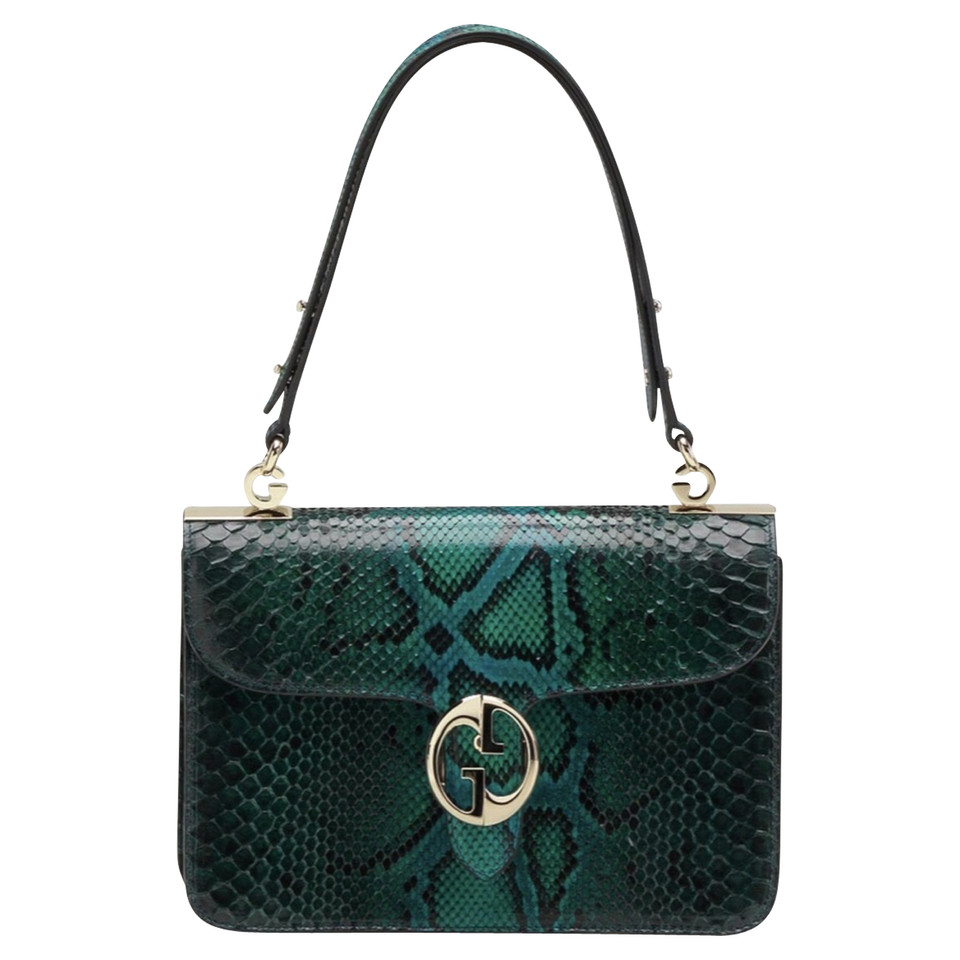 35babfed7e3350 Gucci Shoulder bag made of python leather - Buy Second hand Gucci Shoulder  bag made of