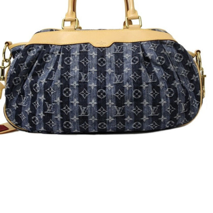 "Louis Vuitton ""Porte Epaule Cruise Cabas Raye GM Monogram Denim"""
