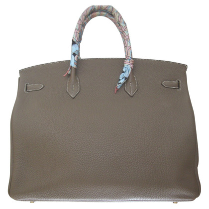 "Hermès ""Birkin Bag 40 Togo Leather Etoupe GHW"""