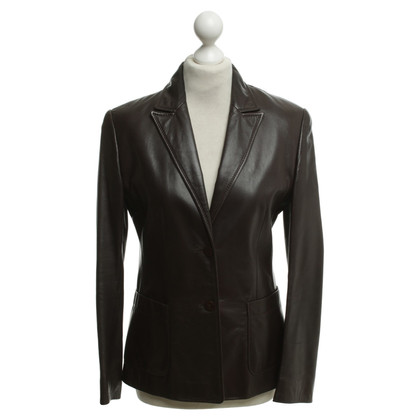 Escada Leather jacket in brown
