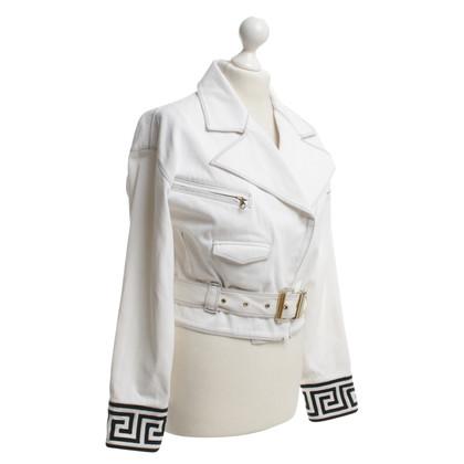 Versace Biker jasje in wit