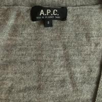 A.P.C. Grijs merinoswollen vest