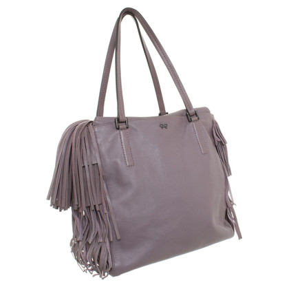 Anya Hindmarch Leather handbag in Mauve