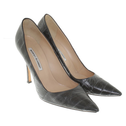 Manolo Blahnik Pumps in Dunkelgrau