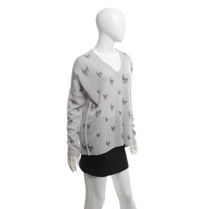 Other Designer Skull Cashmere Sweater in grey