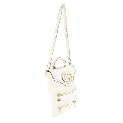 Gucci Flache, weiße Logotasche