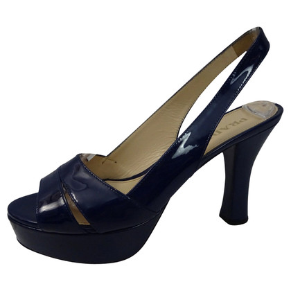 Prada Patent leather peep toe