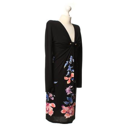 Roberto Cavalli Kleid mit floralem Druck