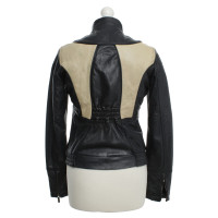 Calvin Klein Two-tone leather jacket
